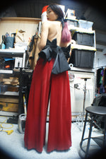 Unique Red Pleated Pants - ULTRA-CAT