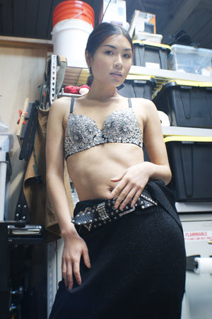 Rhinestone Unique Bra - ULTRA-CAT