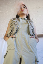 Unique Vintage Utility Safari  Style Dress - ULTRA-CAT