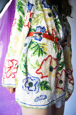 Sequined Silk Vintage Jacket - ULTRA-CAT