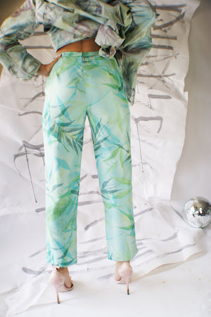 Silk  Vintage Floral pants - ULTRA-CAT