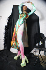 Unique Silky Marble Watercolor Dress - ULTRA-CAT