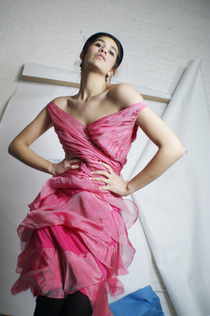 Raw Silk Pink Dress - ULTRA-CAT