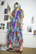 Silk Floral Upcycled Romantic Dress - ULTRA-CAT