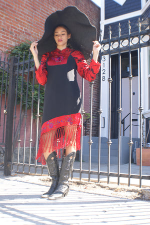 Vintage Mexican Silk Dress
