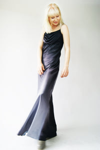 Silky 90's Vintage Prom Gown - ULTRA-CAT