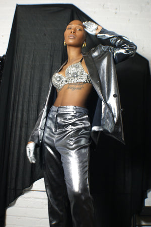 Unique Y2k Silver Suit - ULTRA-CAT