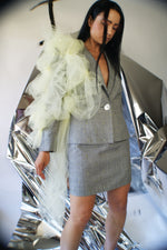 Vintage Redesigned Skirt Suit With Abstract Tulle - ULTRA-CAT