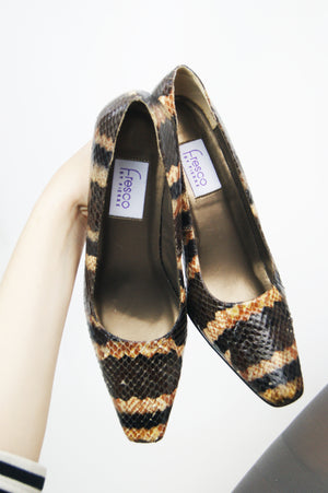 REAL SNAKESKIN Vintage Pumps - ULTRA-CAT