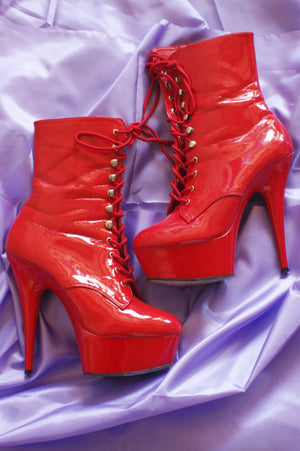 Red Patent High Heel Provocateur Shoes