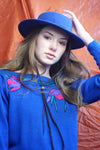 Cobalt Blue Vintage Hat - ULTRA-CAT