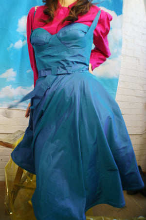 Unique Taffeta Corset Dress - ULTRA-CAT