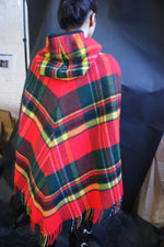 1950's Tartan Wool Cape - ULTRA-CAT