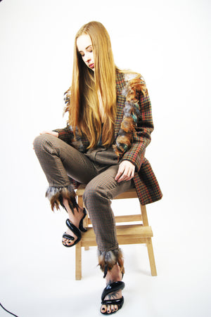 Check 1970' Vintage Reworked Pants - ULTRA-CAT
