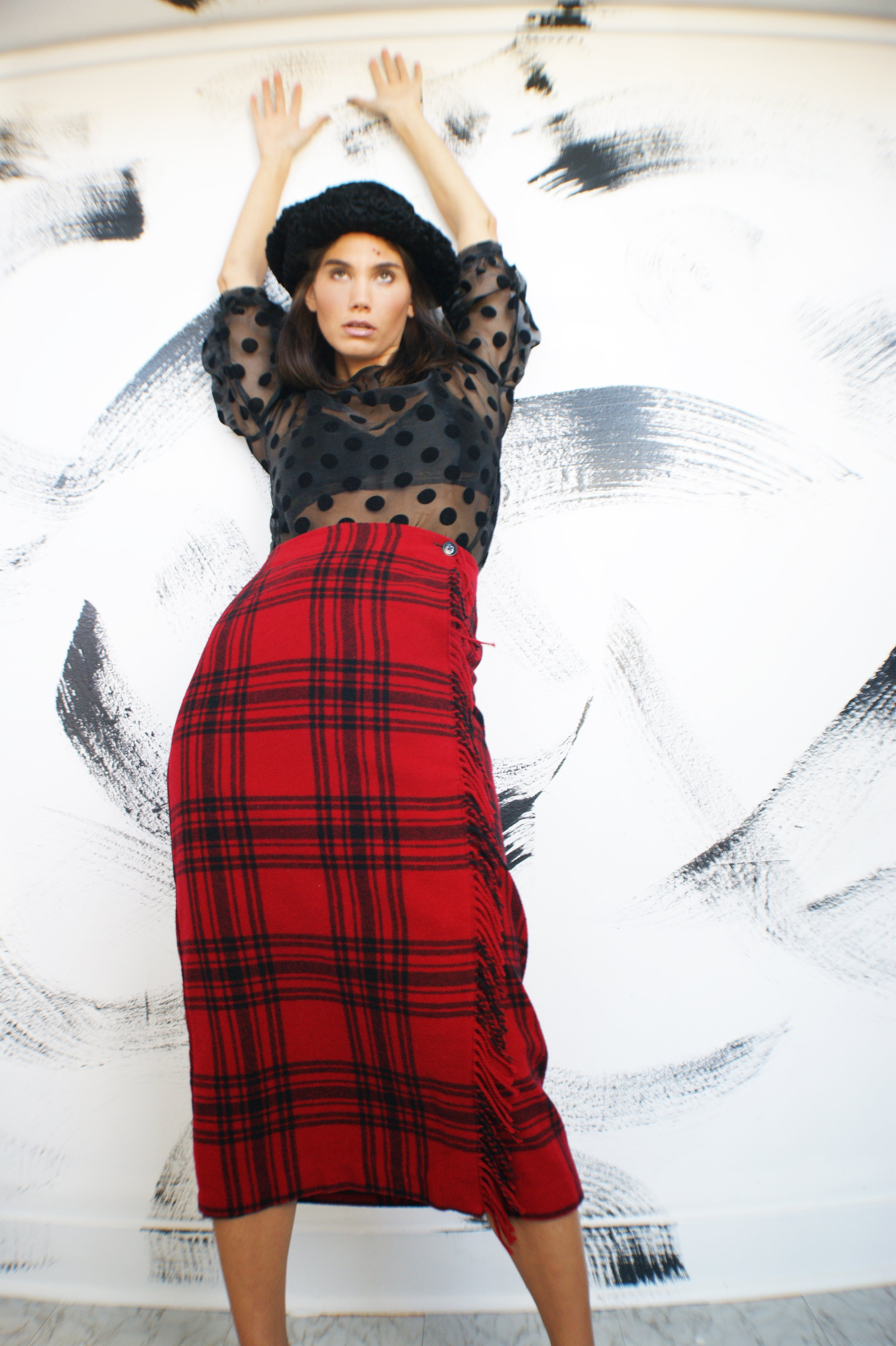 Tartan Vintage Blanket Skirt - ULTRA-CAT