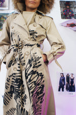 Hand painted Vintage London Fog Trench Coat - ULTRA-CAT