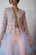 Redesigned Tweed 1980's French Blazer - ULTRA-CAT