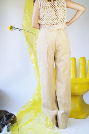 Ultra Suede 1970's Flared Pants - ULTRA-CAT