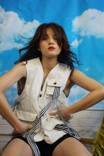 Upcycled Vintage Utility Vest With Trims - ULTRA-CAT