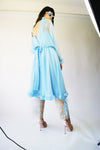 Vintage Baby Blue Prom Dress From 1970's - ULTRA-CAT