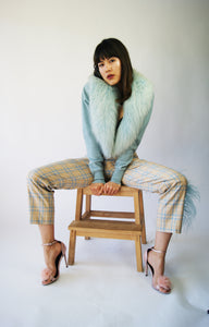 Unique 1950's Fox Cashmere Cardigan - ULTRA-CAT