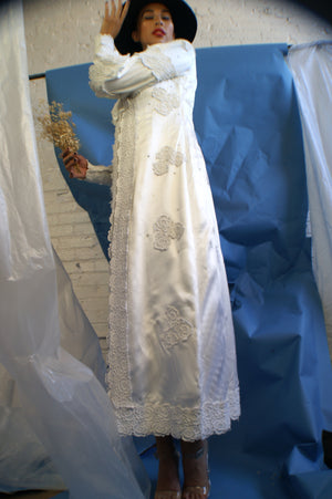 1960's Satin Wedding Gown - ULTRA-CAT