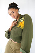 Military 1950s Vintage Jacket With Feathers - ULTRA-CAT