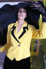 Wonderfully Kitschy Yellow Blazer - ULTRA-CAT