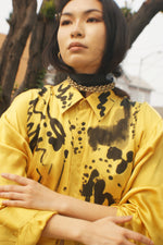 Silk Yellow Hand Painted Shirt