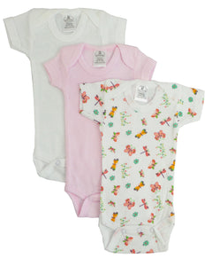 Preemie Girls Printed Short Sleeve Variety Pack