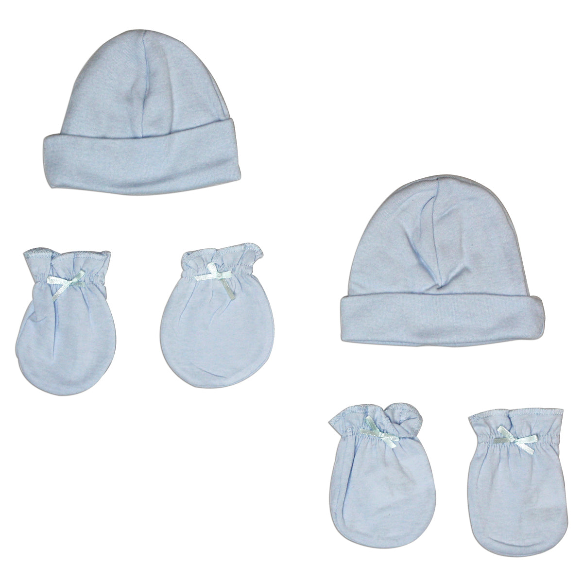 Boys' Cap and Mittens 4 Piece Layette Set