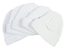 Load image into Gallery viewer, White Baby Cap (Pack of 5)