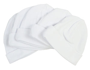 White Baby Cap (Pack of 5)