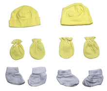 Neutral Cap, Booties and Mittens 6 Piece Layette