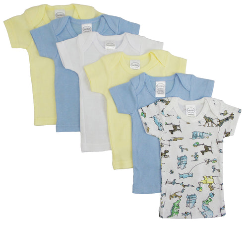 Boys Pastel Variety Short Sleeve Lap T-shirts 6