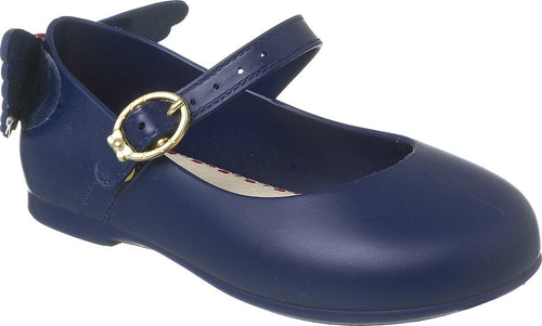 World Colors - Bow Navy Jelly shoe