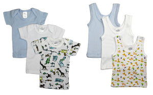 Boys' 6 Piece Layette Set