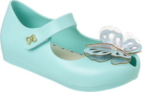 World Colors Acqua Jelly shoe with Butterfly and