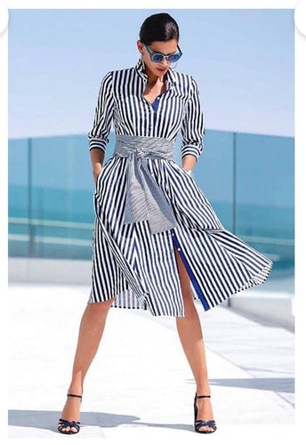 BeuMax Women's Stripped Dress – Stylish Stripped Dress for Women – All