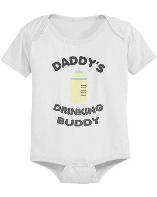 Daddy's Drinking Buddy Cute Baby Bodysuit -