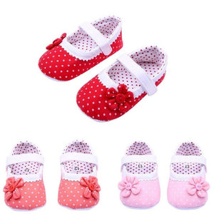 2018 spring Toddler Girl Shoes Dot Hook Loop