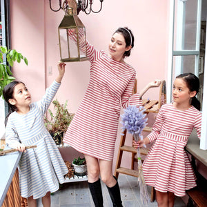(Mommy & Me) Strip dress (woman size)