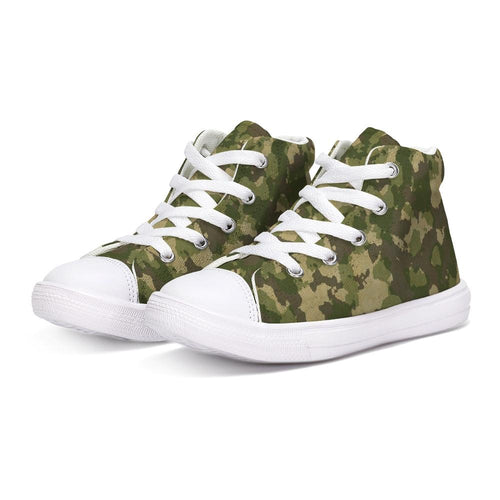 Military USA1 Kids Hightop Canvas Shoe
