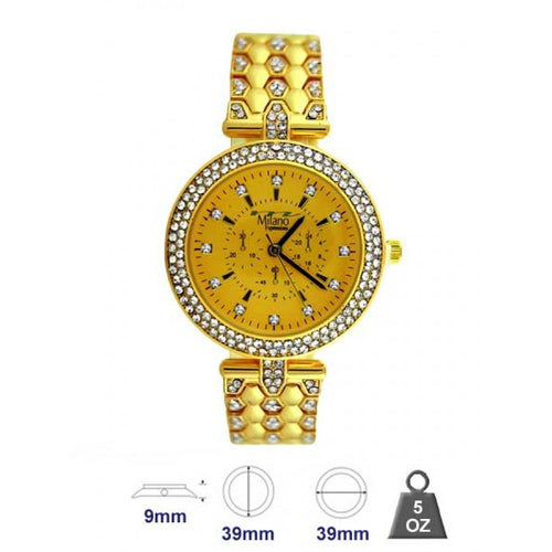 Women metal band watch