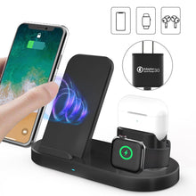 Load image into Gallery viewer, 15W 3 In 1 Wireless Charger Stand for iPhone AirPods Pro Apple Watch