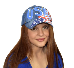 Unisex Sun Hats Washed Denim Hat Sports Baseball