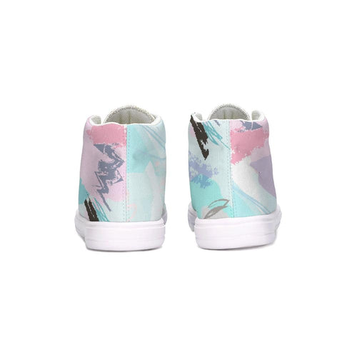 Abstract Doodle Kids Hightop Canvas Shoe