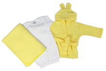 Load image into Gallery viewer, Neutral Newborn Baby 3 Pc Layette Set (Gown, Robe,