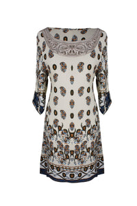 Mandala and Paisley Print Petite Tunic Dresses