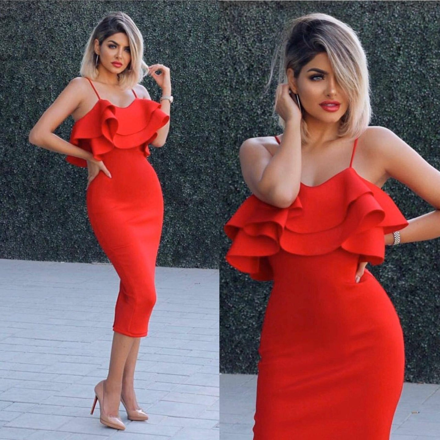 Women's Red Dress – Stylish Red Dress for Women